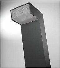 Borne design Torch aluminium et polycarbonate,