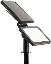 Borne LED Solaire x3 Intensités - Lampe Solaire