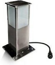 Borne Lumineuse Carré - LED 5W - INOX - H 30 cm