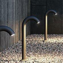 Borne lumineuse d'extérieur en aluminium avec