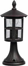 Borne Lumineuse Extérieur glasgow 36cm Noir -