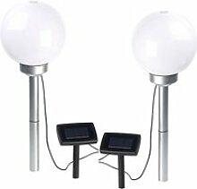 Borne lumineuse sphérique à LED Ø 20 cm avec