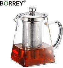 BORREY – théière carrée en verre, résistante