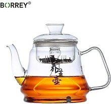 BORREY – théière en verre, cuisinière à