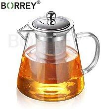 BORREY – théière en verre résistante à la