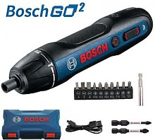 BOSCH – Mini tournevis électrique GO2, batterie