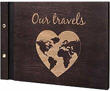 botle Album photo en bois pour voyage de mariage -