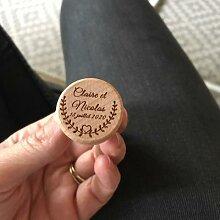 Bouchon de bouteille de vin personnalisé, bouchon