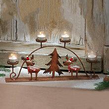 Bougeoir de Noel Elk Reindeer Set Bougeoir en fer