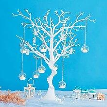 Bougeoir en verre suspendu, décoration de bougie