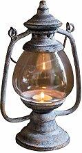 Bougeoirs Porte-bougie en fer forgé rétro lampe