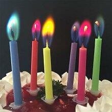 Bougie d'anniversaire créative, 12 pièces,