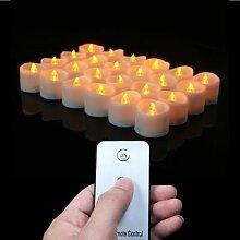 Bougie électrique à piles avec télécommande ou