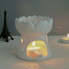Bougie en céramique Lotus, brûleur