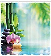 Bougie et Pierre de Bambou orchidée Rideau de