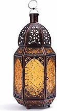 Bougie Lanterne Marocaine Bronze Fer Bougeoir Vent