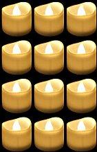 Bougie LED Flamme Vacillante Chauffe Plat pour