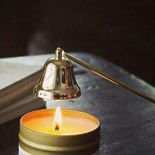 Bougie parfumée en forme de cloche, en acier