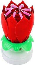 Bougie rotative surprise de fête innovante, fleur