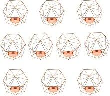 Bougies, 10pcs Chandelier géométrique Mariage