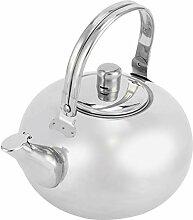 Bouilloire à thé à bec court en acier