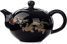 Bouilloire à thé avec infuseur 150ml noire thé