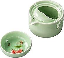 Bouilloire à thé avec infuseur Céramique verte