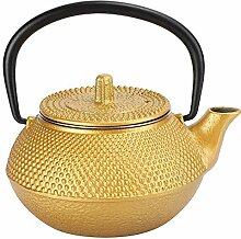Bouilloire à thé en fonte d'or 10 oz,