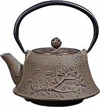 Bouilloire à thé en Fonte de Fleur de Prunier