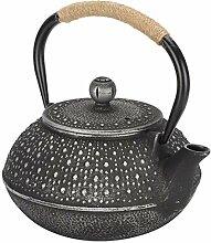 Bouilloire à thé portative en fer, théière en