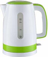 Bouilloire électrique blanche/vert 2200W -