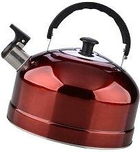 Bouilloire en acier inoxydable, théière rouge,