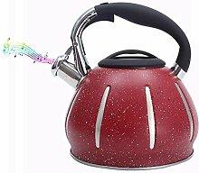 Bouilloire sifflante 3L rouge Whistling bouilloire