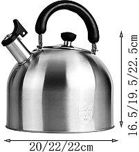 Bouilloire sifflante en acier inoxydable pour