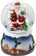 Boule à neige lumineuse avec paillettes -