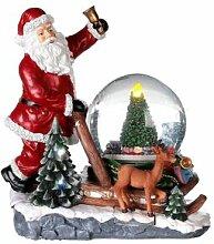Boule à neige paillettes Père Noël avec