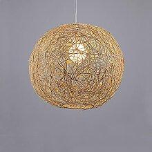 Boule chanvre créative rotin plafonniers lampes
