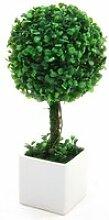 Boule de buis - plante artificielle avec pot en