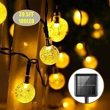 Boule de cristal à énergie solaire, guirlande