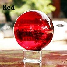 Boule de cristal colorée de 40mm avec Base en