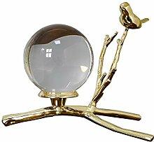 Boule de Cristal en Verre avec Support en métal