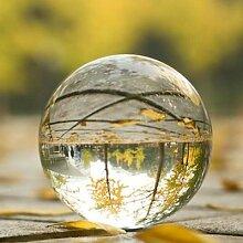 Boule de cristal en verre transparent 80mm,