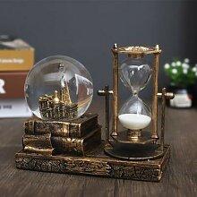Boule de cristal sablier minuteur Vintage,