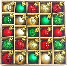 Boule de décoration d'arbre de Noël de 30 MM