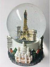 Boule de neige Paris Tour Eiffel - Base résine