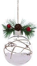 Boule de Noël branche Flocon - Transparent
