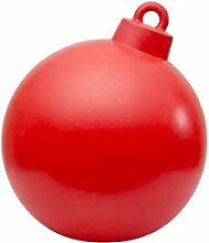 Boule de Noël brillante (rouge).