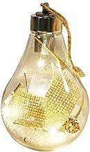 Boule de Noël Durable avec lumière LED, Boules