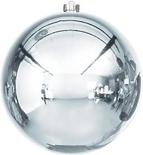 Boule de Noël en plastique, bleu acier, 20 cm Ø