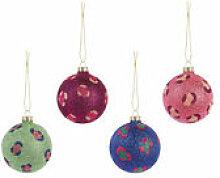 Boule de Noël Leopard Glitter / Set de 4 - &